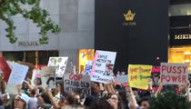 Donald Trump -- P**** Power to the People!! Protest Grows at Trump Tower (VIDEO)