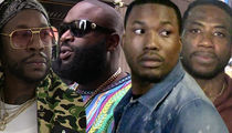 Meek Mill & Rick Ross -- Gunshots Fired During Music Video Shoot (VIDEO)