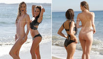 Models Yasmine Staub & Lauren Carter -- Tide-Tangled and Wet (PHOTO GALLERY)