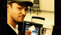 Justin Timberlake -- D.A. Reviewing Voting Selfie ... Punishment Includes Jail (PHOTO)