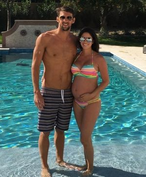 Michael Phelps and Nicole Johnson -- The Happy Couple