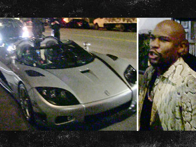 Floyd Mayweather -- Brings $12 MILLION Car Fleet ... To L.A. Hot Spot (VIDEO)