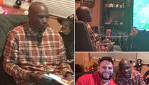 Chad Johnson -- Pizza, Donuts & a Losing Streak ... In Latest FIFA House Crashing (PHOTO GALLERY)