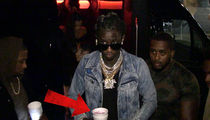 Young Thug -- I'm Turnt Up and Free to Lean in Hollywood (VIDEO)