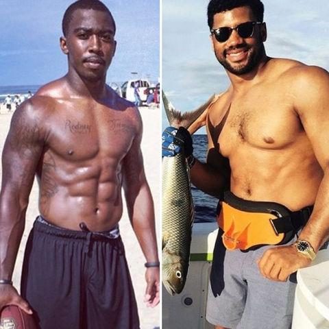 Tyrod Taylor (27)  vs. Russell Wilson (27) hut, hut, hottie!