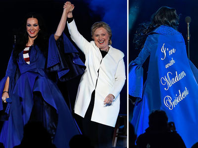 Katy Perry and Hillary Clinton --  I'm With Madam President (PHOTOS)