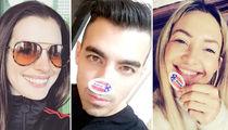 Election Day 2016 -- Celebs Make It Stick(er)! (PHOTO GALLERY)