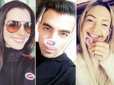 Election Day 2016 -- Celebs Make It Stick(er)! (PHOTO GALLERY)