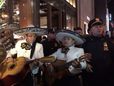 Donald Trump -- La Policia Boot Mariachi Band from Trump Tower (VIDEO)