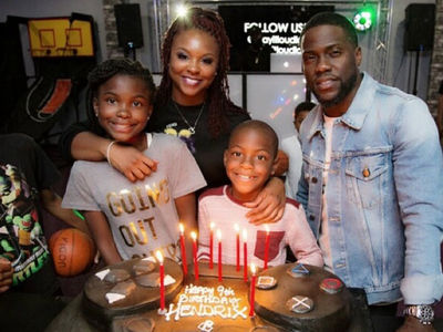 Kevin Hart and Torrei -- Gettin' Their Game On For Son's Birthday (PHOTO GALLERY + VIDEO)