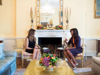 Michelle Obama & Melania Trump -- Sooo ... Nice Speech (PHOTO)