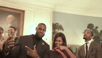 Cleveland Cavs -- FREEZE MICHELLE OBAMA ... Mannequin Challenge at White House (VIDEO)