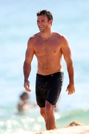Scott Eastwood -- Shirtless on Bondi Beach