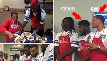 Ezekiel Elliott & Dak Prescott -- How Are We Celebrating?? ... Serving Meals at Salvation Army (PHOTO GALLERY + VIDEO)