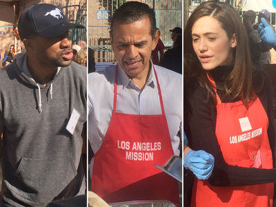 Celebrity Thanksgiving -- Stars Serve Up Turkey and Taters (PHOTO GALLERY)