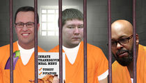 Fogle, Giudice and Dassey -- Inmates Chow Down on Thanksgiving Grub
