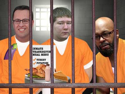 Fogle, Giudice and Dassey -- Inmates Chow Down on Thanksgiving Grub