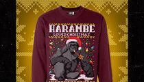 Harambe -- Holiday Sweater Shooting Off Shelves (PHOTO)