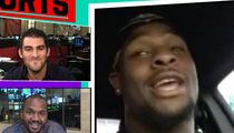 Le'Veon Bell -- Busts Freestyle Rap ... On 'TMZ Sports' (VIDEO)