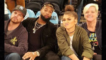 Odell Beckham Jr. -- Courting Zendaya (Again?) ... Hanging Out At Knicks Game (PHOTO)