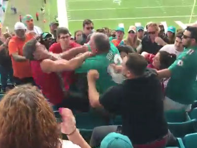 Miami Dolphins -- Stadium Brawlers Banned ... Season Tix Revoked