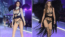 Kendall Jenner and Gigi Hadid -- Let the Lingerie Games Begin at Victoria's Secret Show (PHOTO GALLERY)
