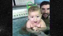 Michael Phelps -- Baby's 1st Swim Lessons ... 6-Month-Old Hits the Pool (VIDEO)