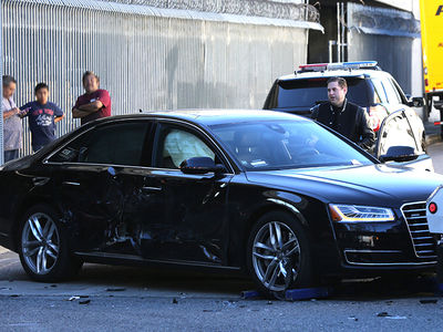 Jonah Hill -- Nasty Car Wreck In DTLA (PHOTOS)