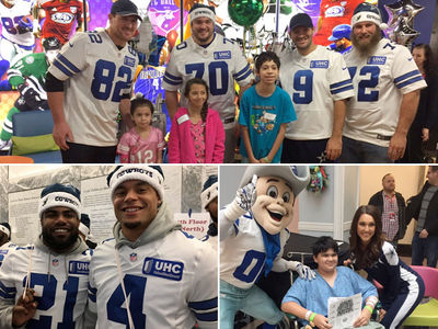 Dallas Cowboys -- Visit Texas Children's Hospitals For Xmas ... Continue To Win (PHOTO GALLERY + VIDEO)