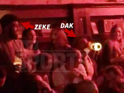 Ezekiel Elliott & Dak Prescott -- Monday Night Clubbin' ... Poppin' Bubbly While Cash Flies (VIDEO)