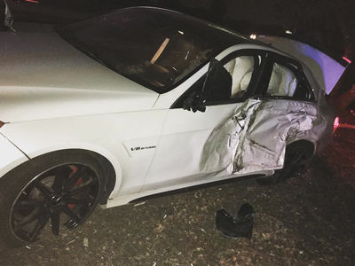 Casper Smart -- Smashes into Tree, Destroys Luxury Whip (PHOTO)