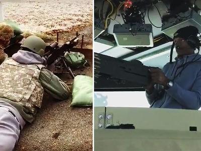 Ray Allen's Machine Gun Training After Chopper Ride In Afghanistan (VIDEO)
