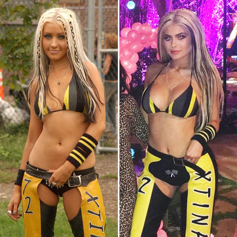 Christina Aguilera (then 21, now 35) vs. Kylie Jenner (19) Dirrrtiest diva?