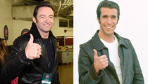 Hugh Jackman Looks Just Like Henry Winkler (PHOTOS)