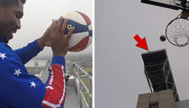Globetrotter Nails RIDICULOUS Trick Shot Off 300 Ft. High Stadium Roof (VIDEO)
