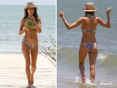 Alessandra Ambrosio Loves Her Brazilian Coconuts (PHOTOS)