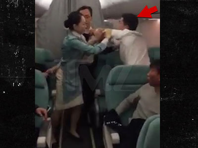 Korean Air Unruly Passenger Spits And Kicks And It's All Caught On Video