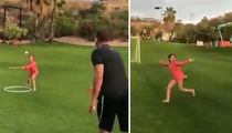 Alex Rodriguez's Daughter Shows Off Bat Flip (VIDEO)