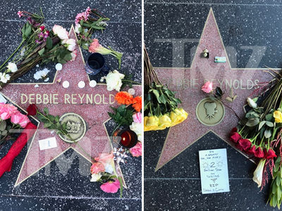 Debbie Reynolds' Hollywood Stars Overrun by Flowers (PHOTOS)