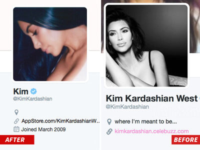 Kim Loses Kardashian and West on Twitter (UPDATE)