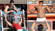 Britney Spears' Boyfriend Puts In Hot Body Workout (PHOTO GALLERY)