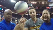 Steph Curry Does Trick with Globetrotters ... 'You Made a Dream Come True' (VIDEO)