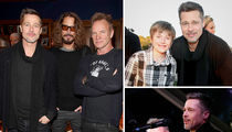 Brad Pitt Resurfaces For Malibu Charity Concert (PHOTO GALLERY)