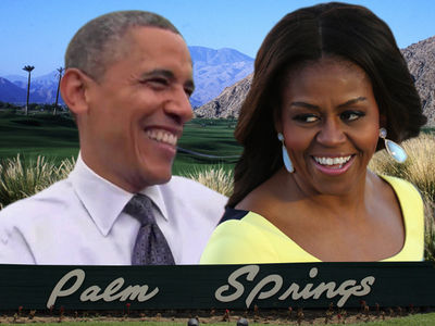 Obamas Jet to Palm Springs After Inauguration