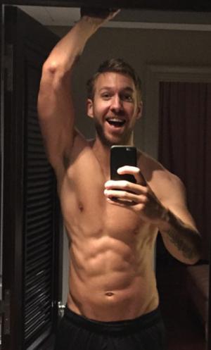 Calvin Harris' Shirtless Shots
