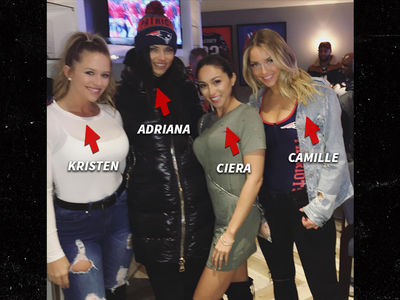 Adriana Lima Hits Patriots Game ... Joins Insanely Hot Group of Wives & GFs (PHOTOS)
