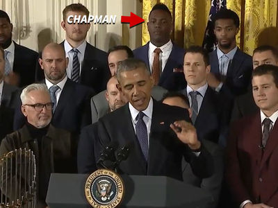 Aroldis Chapman Gets Hope Solo Treatment from Barack Obama (VIDEO)
