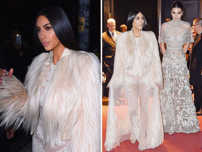 Kim Kardashian, Kendall All Gussied Up for 'Ocean's Eight' (PHOTO)