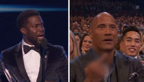 The Rock Flips Kevin Hart Off on Live TV at People's Choice Awards (VIDEO)