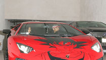 Chris Brown's Lambo Goes SUPER SAIYAN!!! (PHOTO)